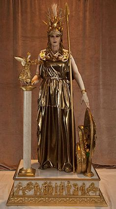 ATHENA PARTHENOS Entered in the CostumeCon Historical Masquerade at Toronto, 2014 Awards: Master Class: Best Documentation Best Workmanship Overall: Best in Show Percy Jackson, Athena Goddess, Greek And Roman Mythology, Female Hero, Mythological Creatures, Divine Feminine, Gods And Goddesses, Ancient Greece, Ancient History