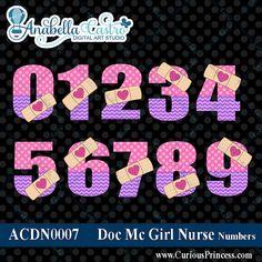 Números de gráfico doc Mc doc mcstuffin clip por ACDigitalArtStudio