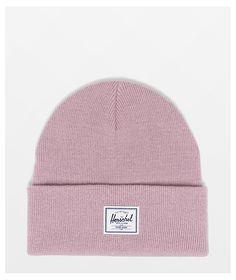On those chilly days when you need a cozy top feel, reach for the Elmer Ash Rose beanie from Herschel Supply Co. This light pink beanie has a ribbed knit construction and features a woven Herschel Supply Co. logo tag on the front cuff bringing crisp branding to this unique looking beanie, amassing to a must-have beanie for your collection.