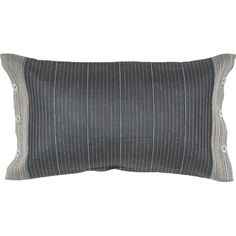 Lend an elegant touch to your settee, chaise, or guest bed with this silk lumbar pillow, showcasing a stripe motif and button details.