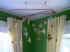 Stars and Branches Hanging Origami, Star Mobile, Origami Stars, Sculpture Clay, Spray Painting, Scrapbook Paper, Art Projects, Kids, Crafts