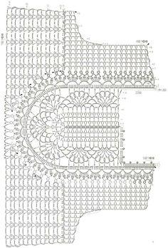 Col Crochet, Crochet Lace Collar, Crochet Diagram, Crochet Woman, Crochet Blouse, Crochet Chart, Irish Crochet, Crochet Stitches, Crochet Patterns