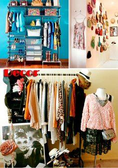 Decoração: Roupas expostas - Blog Só Para Meninas: moda, beleza, decoração e outras utilidades ;)