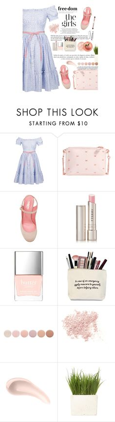"""Untitled #2256"" by amimcqueen ❤ liked on Polyvore featuring Lena Hoschek, Ted Baker, Paule Ka, Ex Voto Paris, By Terry, Butter London, Deborah Lippmann, Bare Escentuals, Soap & Glory and Sinclair"