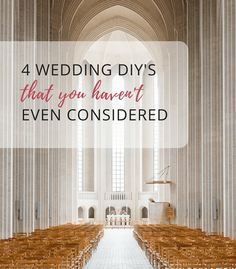 Are you planning to DIY your wedding? Have you considered these 4 non-typical ways to DIY your wedding day? | 4 Wedding DIY's that you Haven't Even Considered | DIYBlooms.com