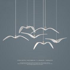 69.27$  Buy now - http://alif9q.worldwells.pw/go.php?t=32724847668 - Creative Pendant Lights Personality Seagull Pendant Lamp Barroom Pendant Loft/Bar/Dining Room suspension luminaire