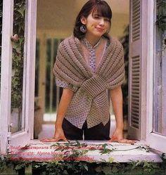 Toquilla Chal Cierre Pico 2 agujas Tutorial - Patrones Crochet