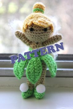 PATTERN Instant Download Tinkerbell from Peter Pan Doll door Sahrit, $4.95