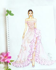 26 Ideas For Fashion Sketchbook Illustrations Ideas Dress Design Drawing, Dress Design Sketches, Fashion Design Sketchbook, Dress Drawing, Fashion Design Drawings, Fashion Sketches, Dress Illustration, Fashion Illustration Dresses, Fashion Illustrations