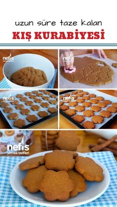 Zencefilli Tarçınlı Kurabiye (Kış Kurabiyesi) (videolu) – Nefis Yemek Tarifleri – Kurabiye – Las recetas más prácticas y fáciles Yummy Recipes, Cookie Recipes, Dessert Recipes, Yummy Food, How To Make Gingerbread, Gingerbread Cookies, Gingerbread Recipes, Dessert Light, Biscuits