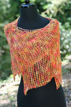 Ravelry: Interlude Tunisian Shawl pattern by Linda Dean