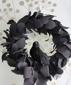 Nevermore Halloween Wreath | Welcome trick-or-treaters (and enhance your curb appeal) with these stylish wreaths.