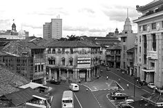 OLD BUILDINGS AT CHULIA STREET, SINGAPORE - 1970.   THE LIBYAN   Esther Kofod   www.estherkofod.com