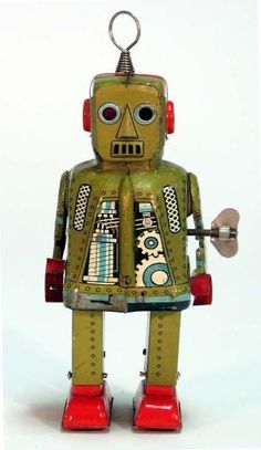 vintage+toy+robots | robots tin toys buddy l space toys trucks trains wind