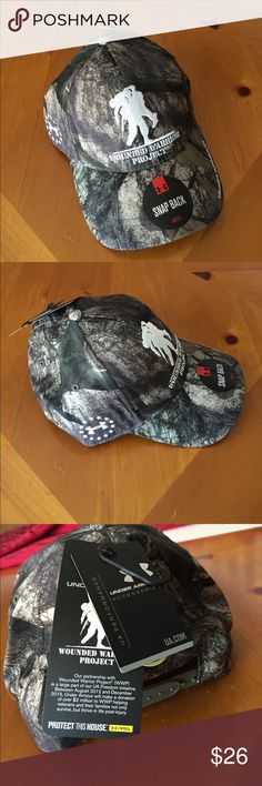 Under Armour Wounded Warrior Hat/New This is a UA Wounded Warrior Project-Mossy Oak hat and it has an adjustable SnapBack with medium profile Under Armour Accessories Hats