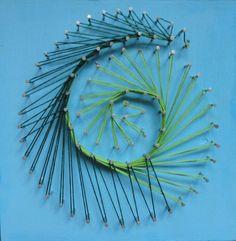 Ein neuseeländisches Motiv mit String Art selbst herstellen