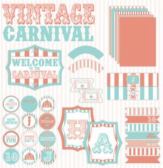 Vintage Circus Birthday PRINTABLE Full Party by Love by lovetheday