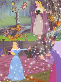 I'm a Disney Geek. My two favorite princess dresses too, Briar Rose and… Walt Disney, Disney Princess Aurora, Cute Disney, Disney Dream, Disney Girls, Disney Magic, Disney Art, Princess Bubblegum, Sleeping Beauty Maleficent