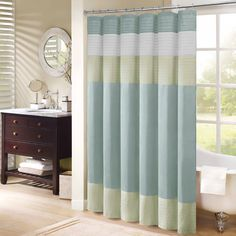 Madison Park Chester Pieced Faux Silk Shower Curtain - Overstock™ Shopping - Great Deals on Madison Park Shower Curtains