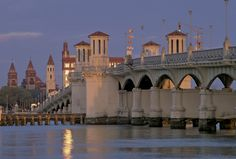 St. Augustine's Bridge of Lions, the oldest city in the US  My hubby visited his cousins, all of them went to St. Augustine.  I have been there many times... He was so excited. We love going places with wonderful history behind it. Mom and pop shops, mom and pop restaurants, weddings there are beautiful with white horses and white carriage
