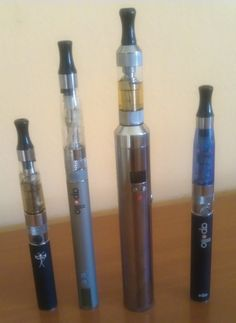 L-rider LAMBO 4.0 (third to the right) with mid-size e-cigs I use every day. See how bigger it is. And heavier, too #ecigarettes, #electronic_cigarettes, #ecigs