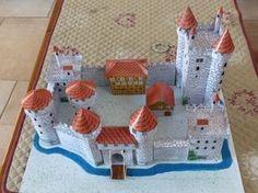 Mock Schloss Pappe geschnittenes Papier, falten und kleben