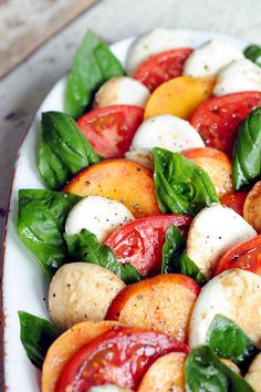 Fresh from your Farmers' Market - Peach Caprese Salad