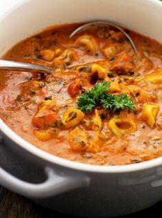 Spinach Tortellini Tomato Soup Recipe - RecipeChart.com