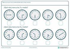 Ficha de horas y media