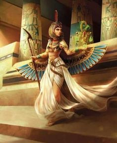 Maat Incarnate by Feig-Art on DeviantArtYou can find Egyptian goddess and more on our website.Maat Incarnate by Feig-Art on DeviantArt Isis Goddess, Goddess Art, Maat Goddess, Egyptian Queen, Egyptian Art, Ancient Egypt Art, Ancient Artifacts, Ancient Aliens, Ancient Greece