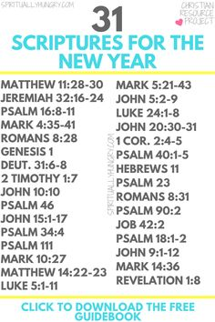 Join this free 31 day challenge and get daily Scripture, prayer prompts, and much more. Work on your resolution with God. New Year Scripture, Scripture Reading, Scripture Study, Prayer Scriptures, Bible Prayers, Bible Verses, Faith Quotes, Bible Quotes, Prayer Quotes
