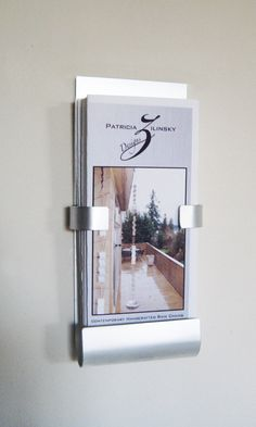 Wall Mount Metal Brochure Holder