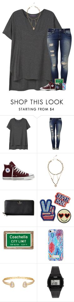 """""""•don't fall in love. it sucks•"""" by cfc-28-sc ❤ liked on Polyvore featuring Violeta by Mango, Mavi, Converse, Ela Rae, Kate Spade, Poncho & Goldstein, Kendra Scott and Casio"""