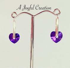Swarovski elements heart pendant and earrings by AJoyfulCreation1