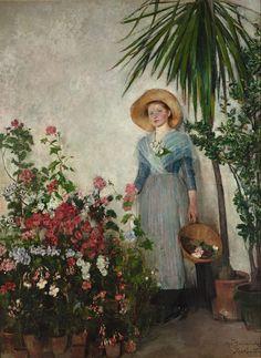 Olga Boznańska - W Oranżerii, 1890.   https://www.facebook.com/PolishMastersofArt/photos/a.1526688624261610.1073741945.1489475997982873/1941663256097476/?type=3