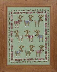 Rudolph & Friends Cross Stitch Kit £24.25 | Past Impressions | Historical Sampler Company