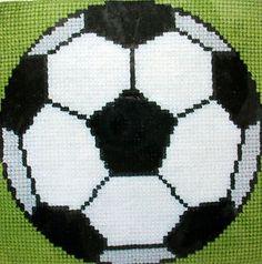 voetballogo klein   haken   Pinterest - Borduren, Breien ...