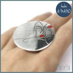 Anillo Pareja http://www.mimarieta.com/producto/anillo-pareja/