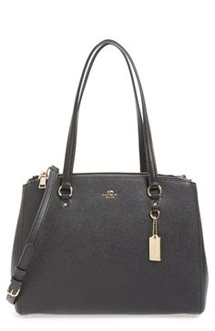 01038ece810c COACH  Stanton  Textured Leather Satchel