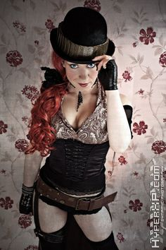 Steampunk girls with nice curves