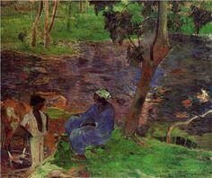 At the pond - Paul Gauguin, 1887 (Van Gogh Museum, Amsterdam, Netherlands), Wikipaintings