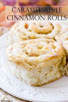 Caramel Apple Cinnamon Rolls   These are SO good. Like cinnabon, but better!