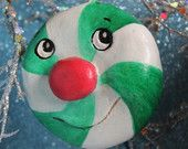 Anthropomorphic Spearmint Swirl Candy Paper Clay Ornament