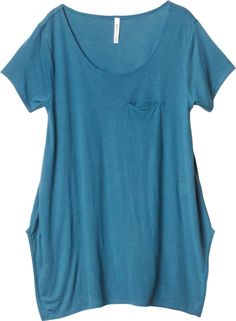 A pretty blue tee with a little something extra to the design. $36
