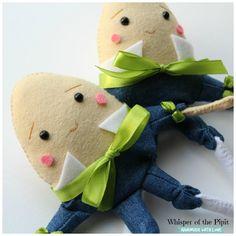 Humpty Dumpty Felt Doll Nursery Rhymes Egg by WhisperOfThePipit