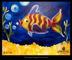 #Striped Fish Painting Animals Art multicityworldtravel.com We cover the world over Hotel and Flight Deals.We guarantee the best price