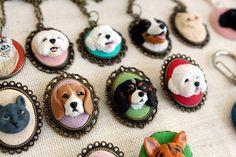 Encargo del retrato del animal doméstico joyas de perro