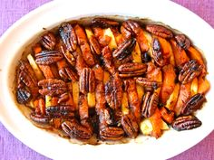 Recipe: Whiskey Glazed Sweet Potatoes - This would work well on any holiday table. I more than halved the recipe and put this on my weeknight table to go with a roast chicken. farmerstoyou.com