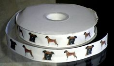 7/8 inch Custom Boxer Dog Breed Grosgrain or Satin Ribbon