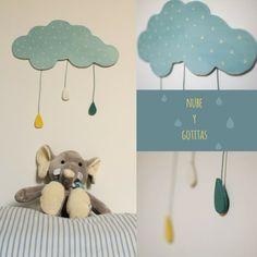 Nuvola, by La Magia di Nina https://www.etsy.com/it/listing/177062146/nuvola-in-legno-con-gocce-apese-in?ref=shop_home_active_2
